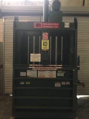 PTR Philadelphia Tramrail Co. 2300HD Vertical Cardboard Baler